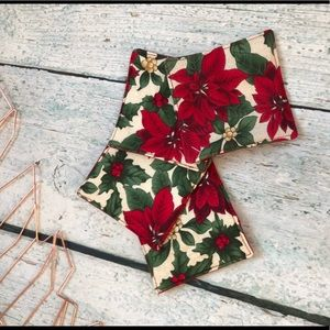 Other - Poinsetta fabric coasters set of 4 Christmas red